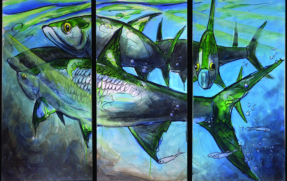 Tarpon School Painting