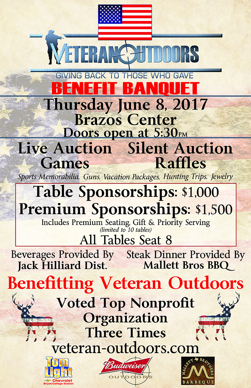 Veteran Outdoors Benefit Banquet